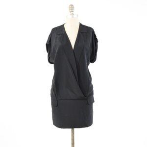 BCBG Max Azria Silk Blouson Tuxedo Mini Dress